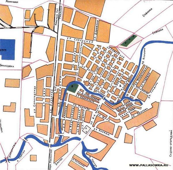 Карта города Палласовка