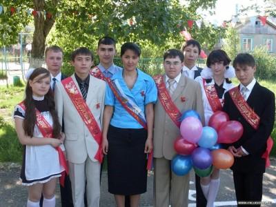 выпускники №12 с классным руководителем