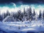 Сосенки в снегу.
