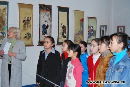 """Выставка """"Культура Японии"""" в Палласовском музее."""