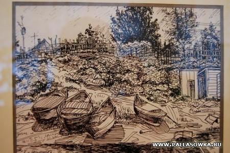Графические работы А.Покатило в Палласовском музее